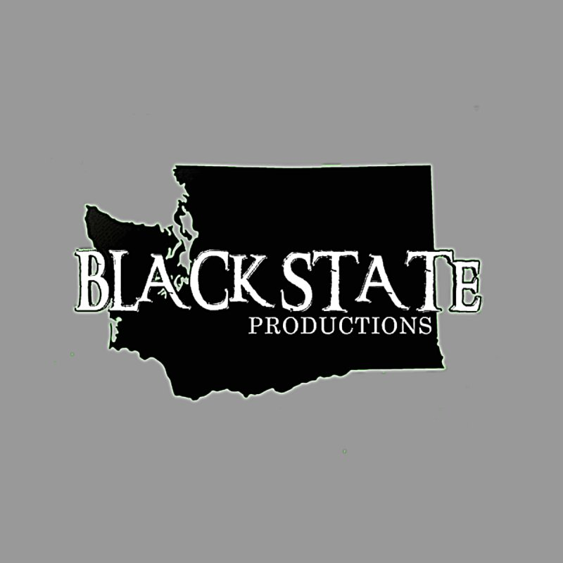 Black State Lil Logo Men's Longsleeve T-Shirt by Last Door on the Left