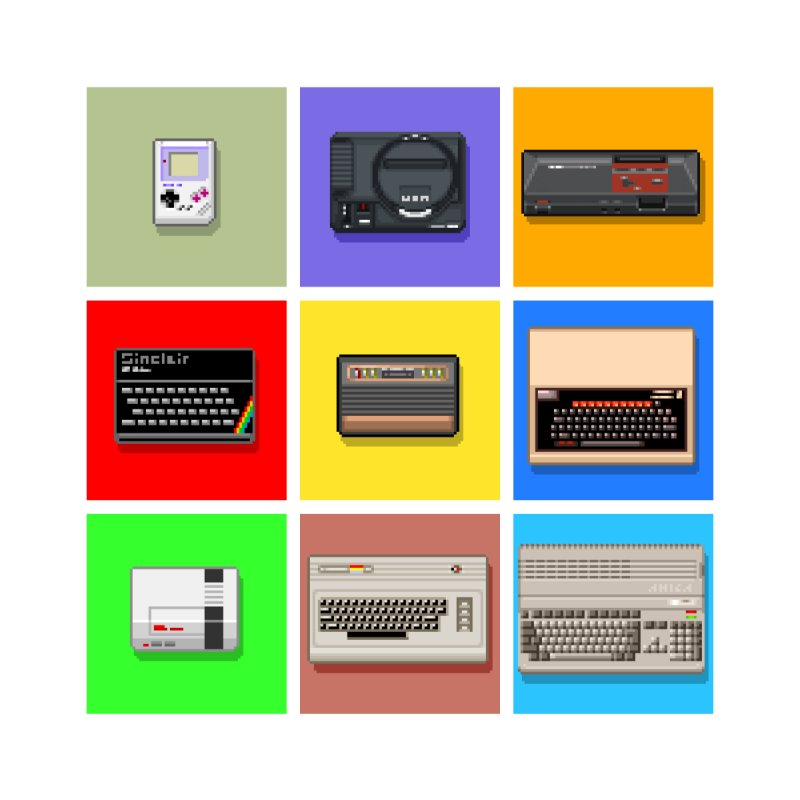 Retro Gaming Squares by lastpixel's Artist Shop
