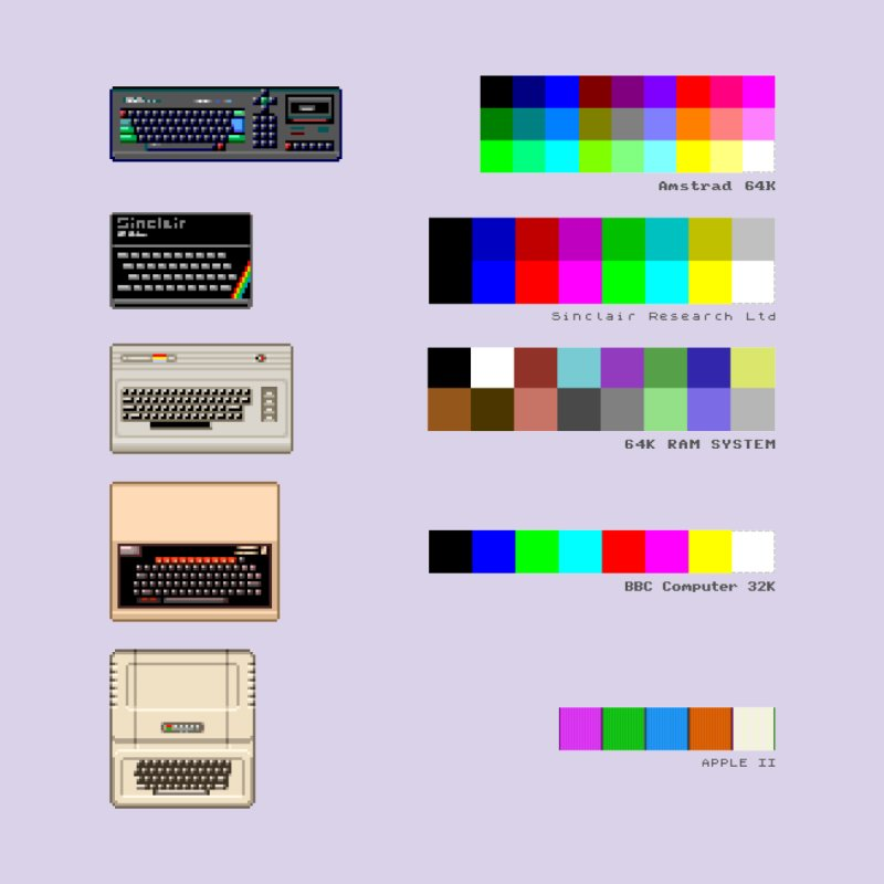 Retro Computer Colours by lastpixel's Artist Shop