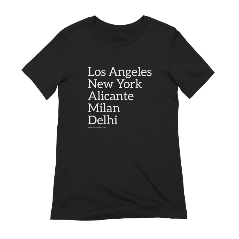 Shoe Cities Pt.1 in Women's Extra Soft T-Shirt Black by Shop Last-Report