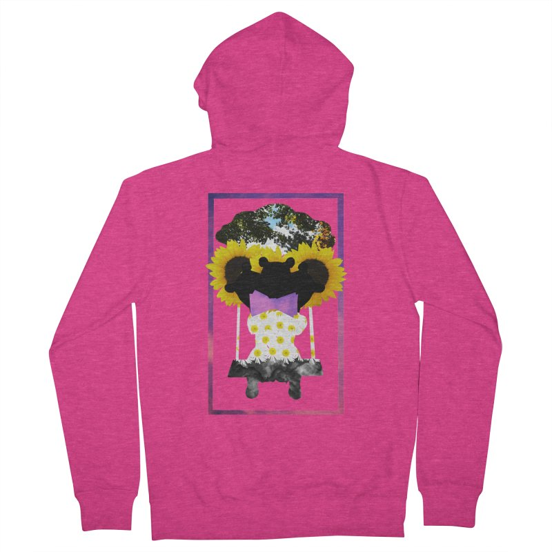 #nonbinarybear Women's French Terry Zip-Up Hoody by Later Louie's Artist Shop