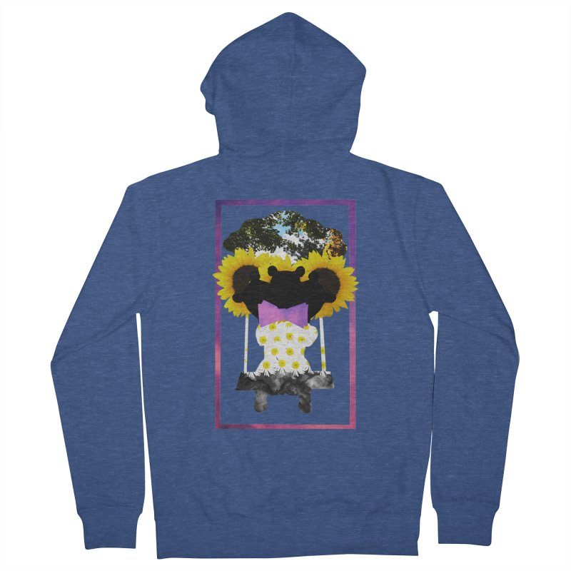 #nonbinarybear Men's French Terry Zip-Up Hoody by Later Louie's Artist Shop