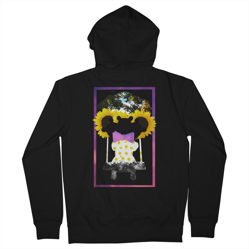 #nonbinarybear Men's French Terry Zip-Up Hoody by laterlouie's Artist Shop