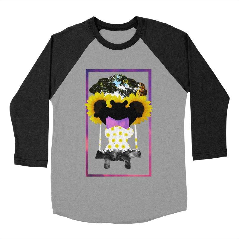 #nonbinarybear Women's Baseball Triblend Longsleeve T-Shirt by Later Louie's Artist Shop