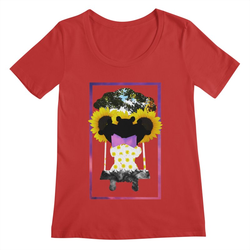 #nonbinarybear Women's Scoop Neck by Later Louie's Artist Shop