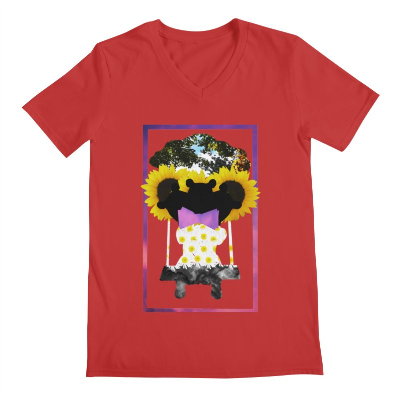 #nonbinarybear Men's Regular V-Neck by Later Louie's Artist Shop