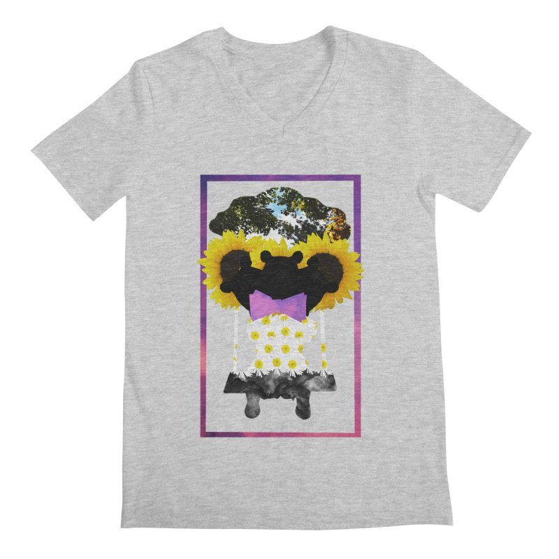 #nonbinarybear Men's V-Neck by laterlouie's Artist Shop