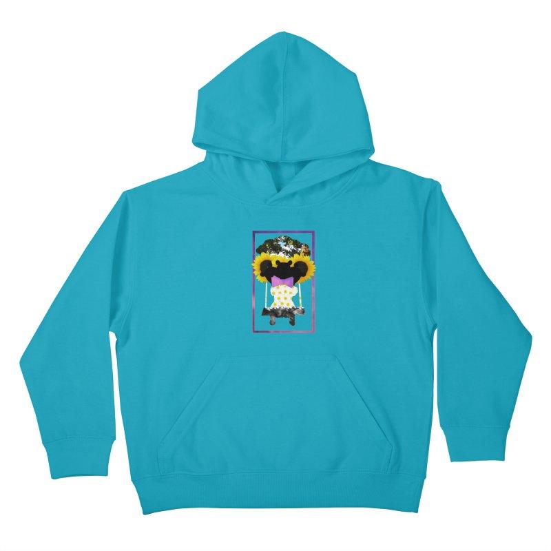 #nonbinarybear Kids Pullover Hoody by Later Louie's Artist Shop
