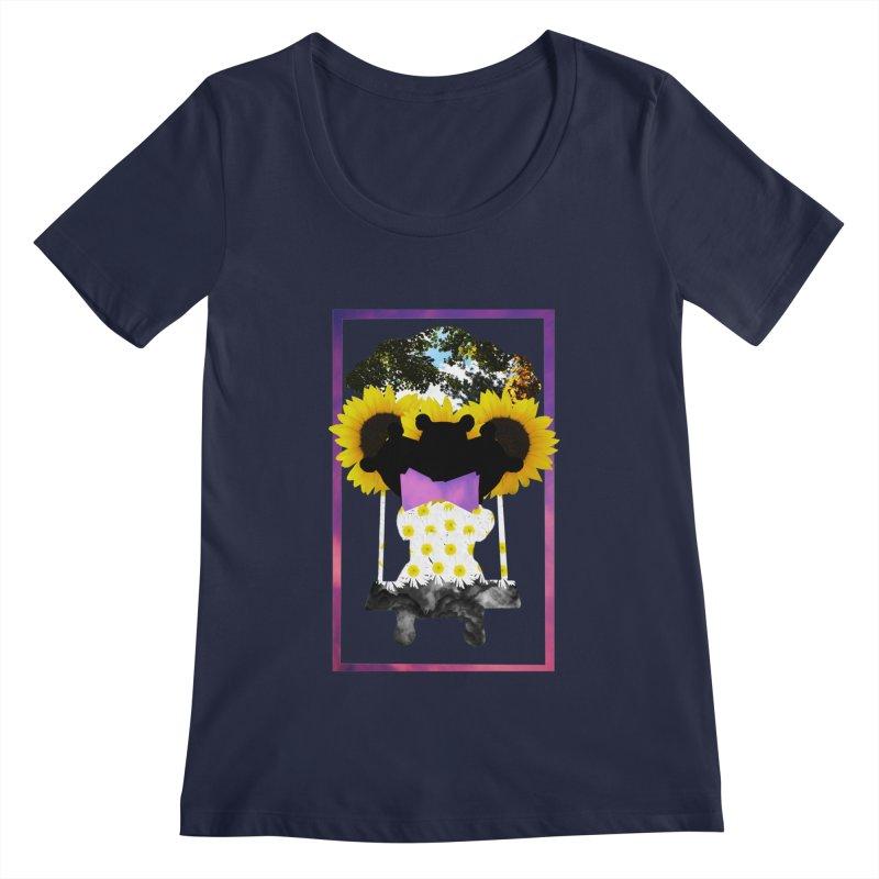 #nonbinarybear Women's Regular Scoop Neck by laterlouie's Artist Shop