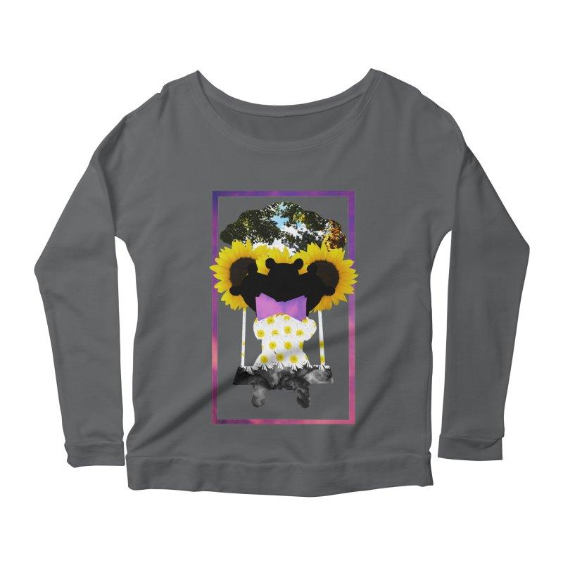 #nonbinarybear Women's Scoop Neck Longsleeve T-Shirt by laterlouie's Artist Shop