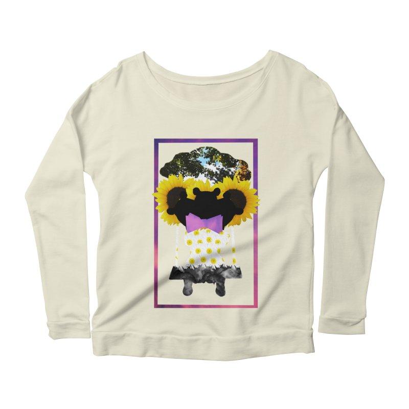 #nonbinarybear Women's Scoop Neck Longsleeve T-Shirt by Later Louie's Artist Shop