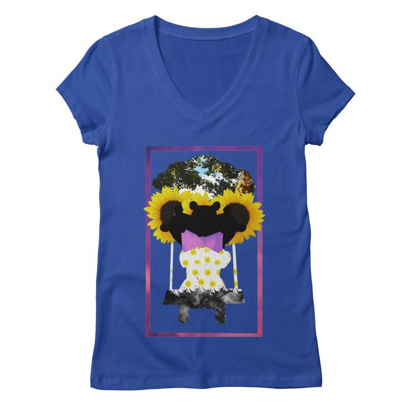 #nonbinarybear Women's Regular V-Neck by laterlouie's Artist Shop