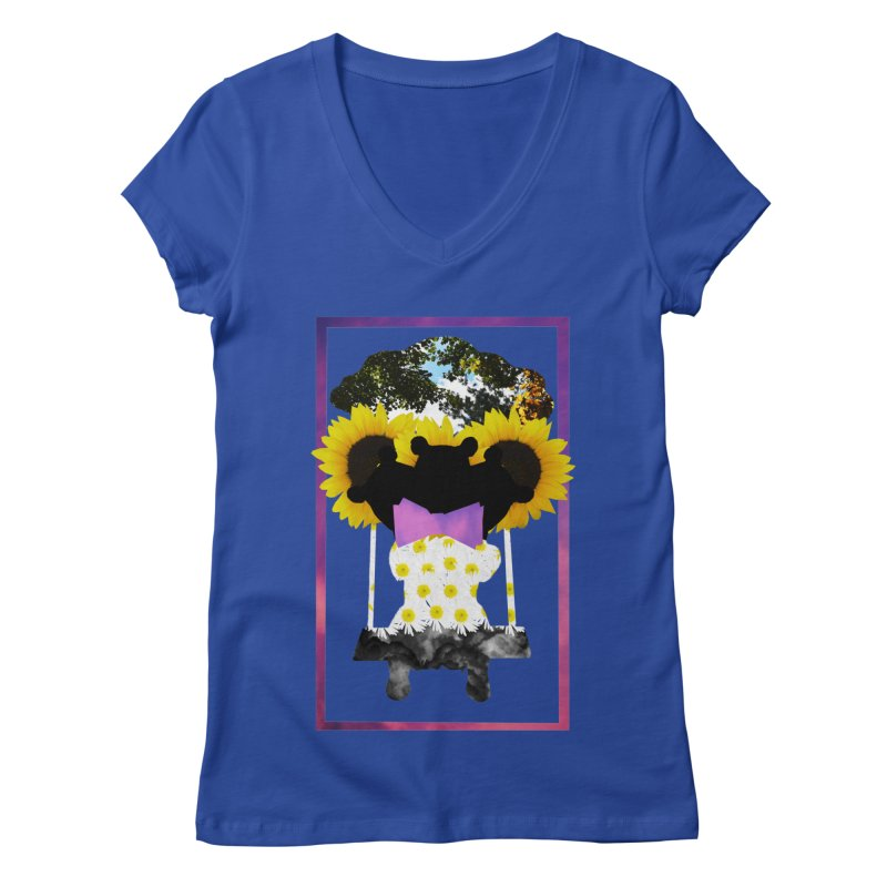 #nonbinarybear Women's V-Neck by laterlouie's Artist Shop