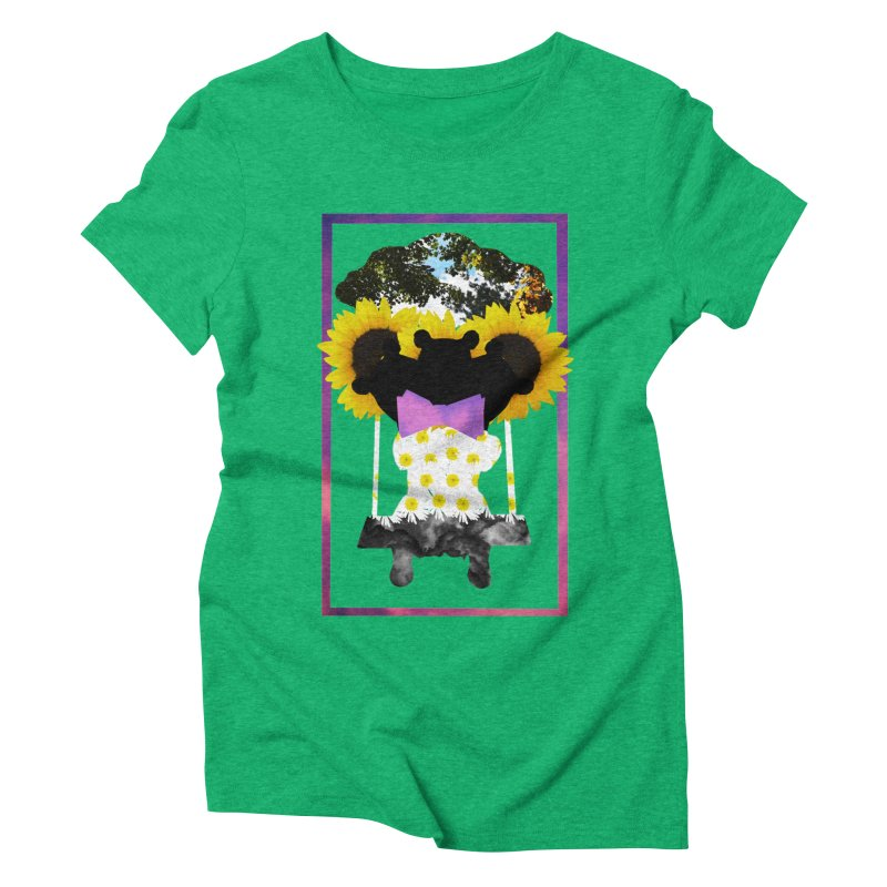 #nonbinarybear Women's Triblend T-Shirt by Later Louie's Artist Shop