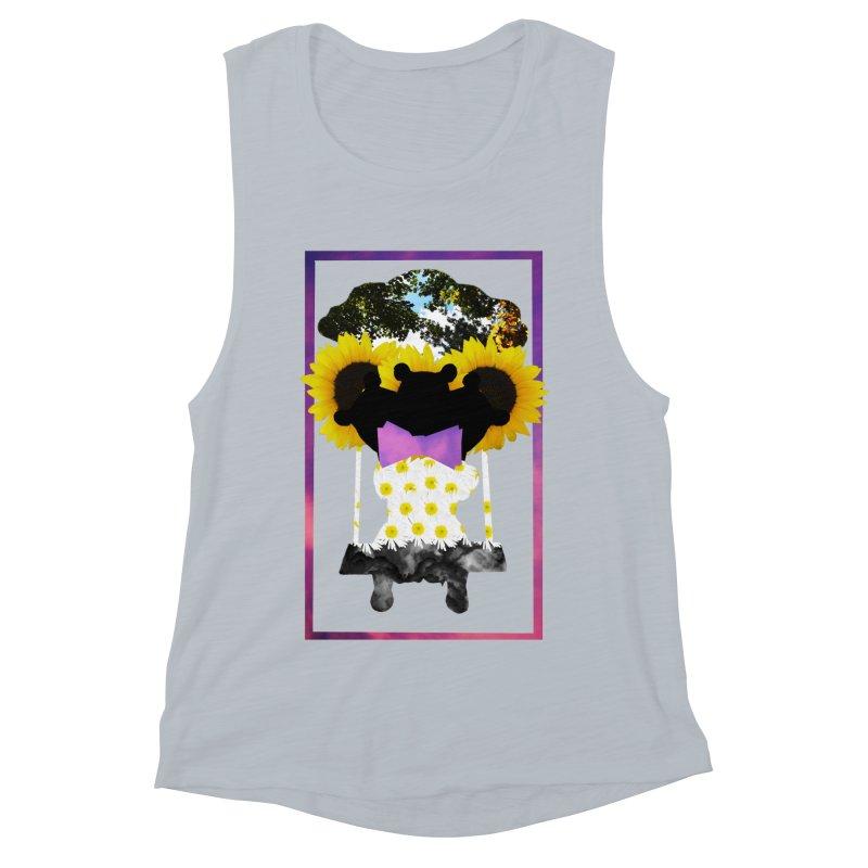 #nonbinarybear Women's Muscle Tank by Later Louie's Artist Shop