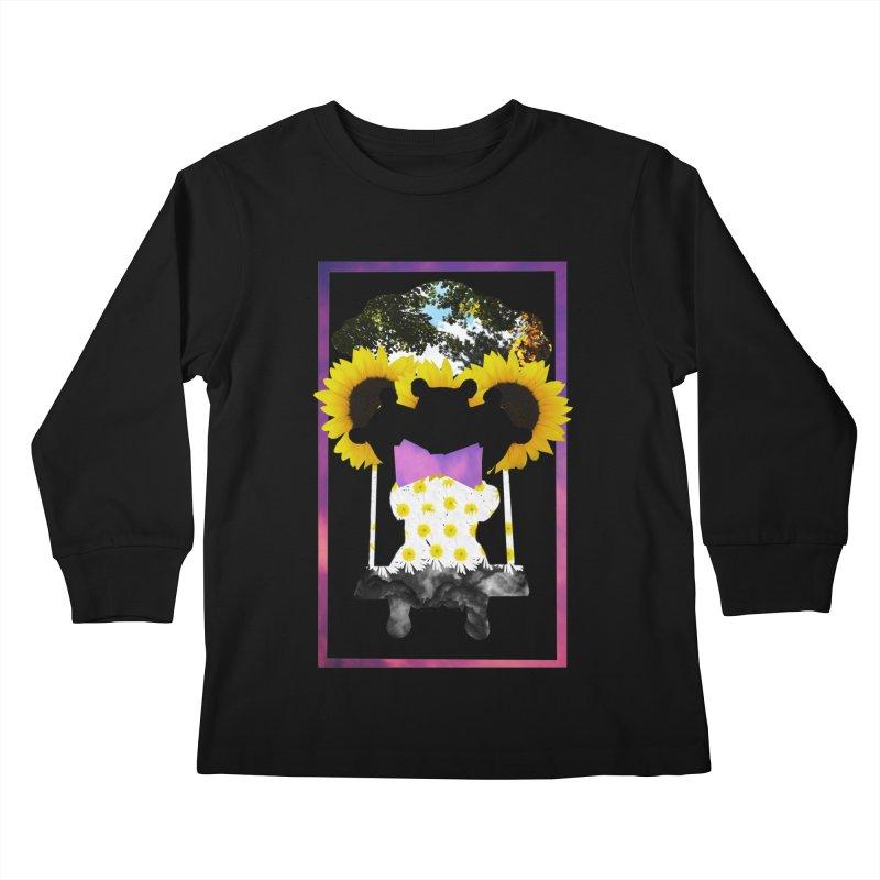 #nonbinarybear Kids Longsleeve T-Shirt by Later Louie's Artist Shop