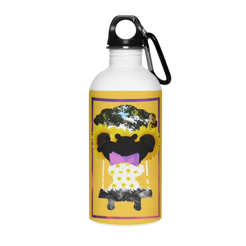 #nonbinarybear Accessories Water Bottle by laterlouie's Artist Shop