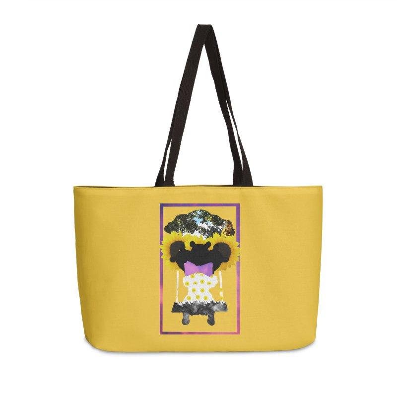 #nonbinarybear Accessories Weekender Bag Bag by Later Louie's Artist Shop