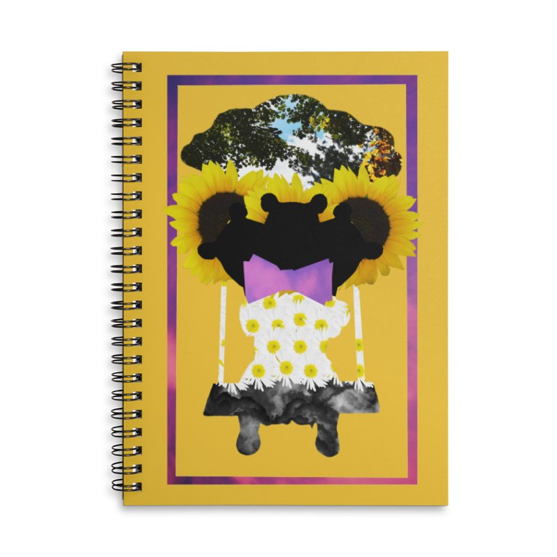 #nonbinarybear Accessories Lined Spiral Notebook by Later Louie's Artist Shop