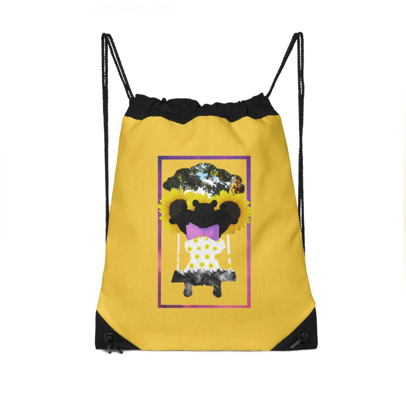 #nonbinarybear Accessories Drawstring Bag Bag by Later Louie's Artist Shop