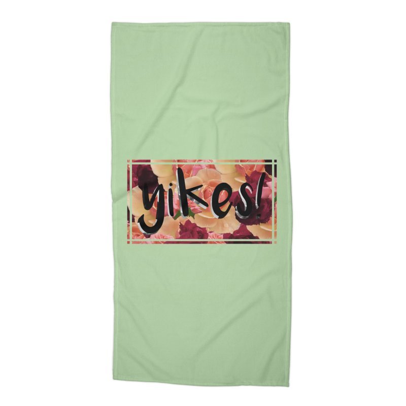 yikes! Accessories Beach Towel by laterlouie's Artist Shop