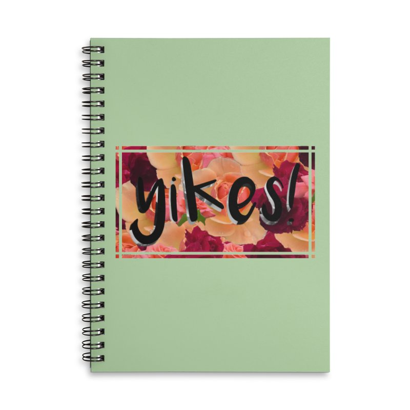 yikes! Accessories Lined Spiral Notebook by Later Louie's Artist Shop