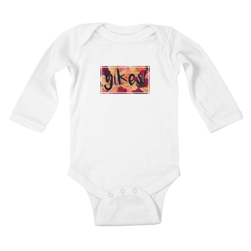 yikes! Kids Baby Longsleeve Bodysuit by Later Louie's Artist Shop