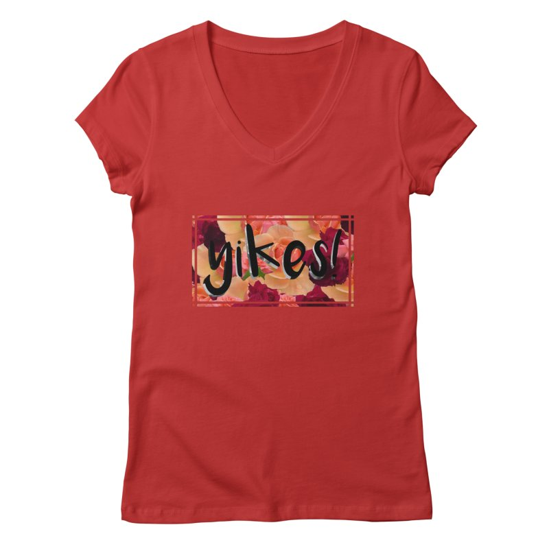 yikes! Women's V-Neck by Later Louie's Artist Shop