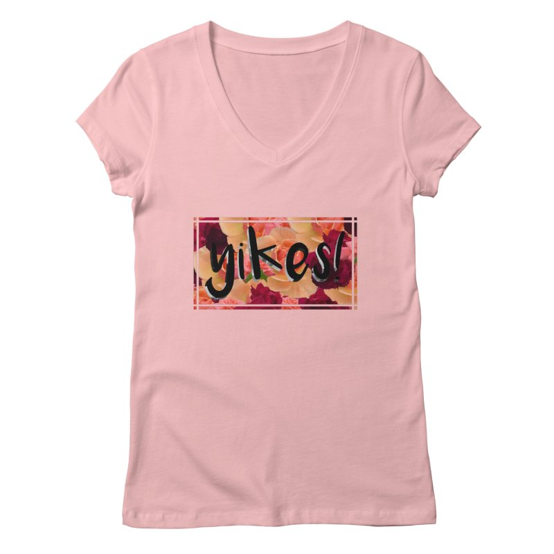 yikes! Women's Regular V-Neck by Later Louie's Artist Shop