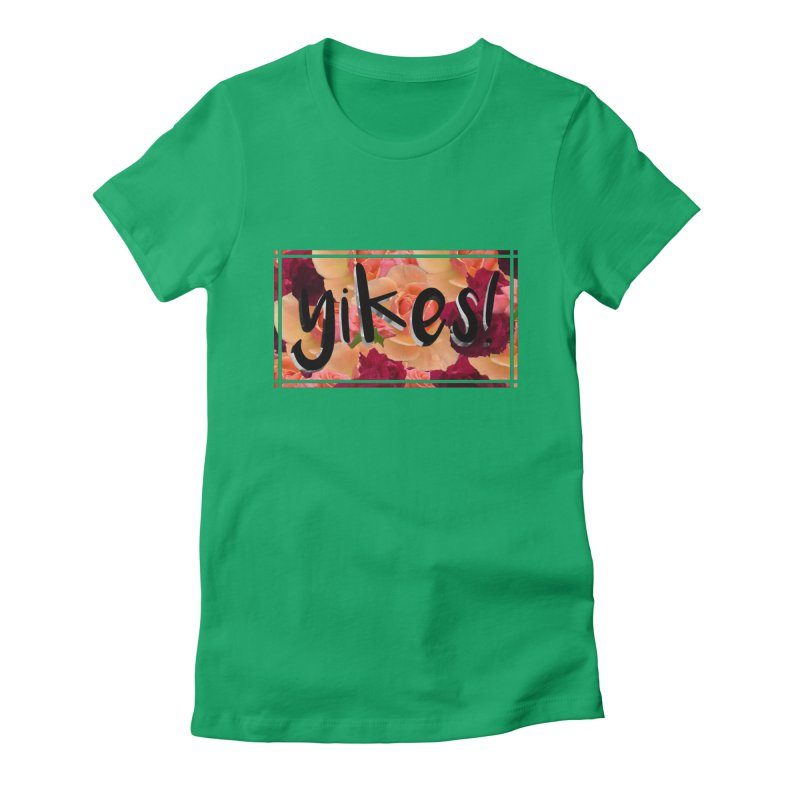 yikes! Women's Fitted T-Shirt by Later Louie's Artist Shop