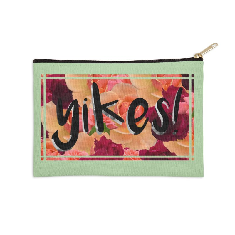 yikes! Accessories Zip Pouch by laterlouie's Artist Shop