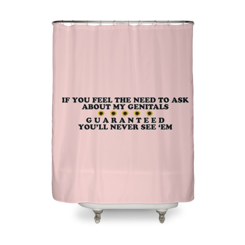 MYB (Mind Your Business) Home Shower Curtain by Later Louie's Artist Shop