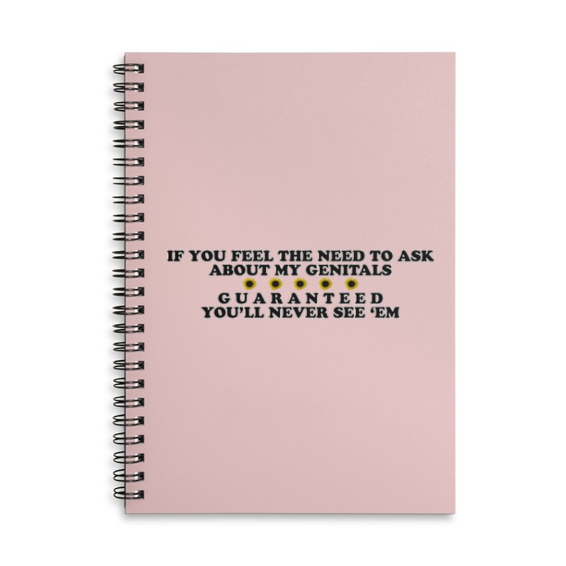 MYB (Mind Your Business) Accessories Lined Spiral Notebook by Later Louie's Artist Shop
