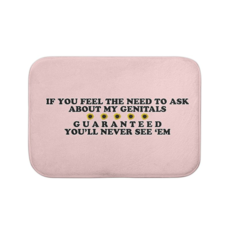 MYB (Mind Your Business) Home Bath Mat by Later Louie's Artist Shop