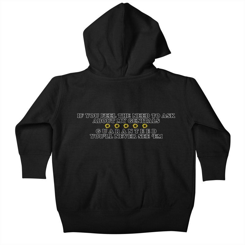 MYB (Mind Your Business) Kids Baby Zip-Up Hoody by laterlouie's Artist Shop
