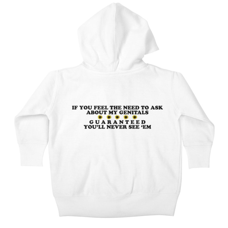 MYB (Mind Your Business) Kids Baby Zip-Up Hoody by Later Louie's Artist Shop
