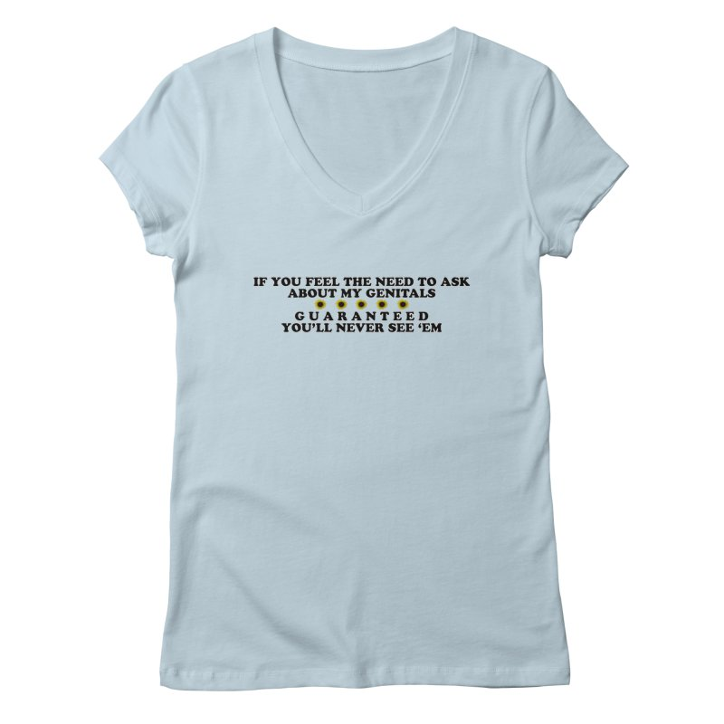 MYB (Mind Your Business) Women's V-Neck by Later Louie's Artist Shop