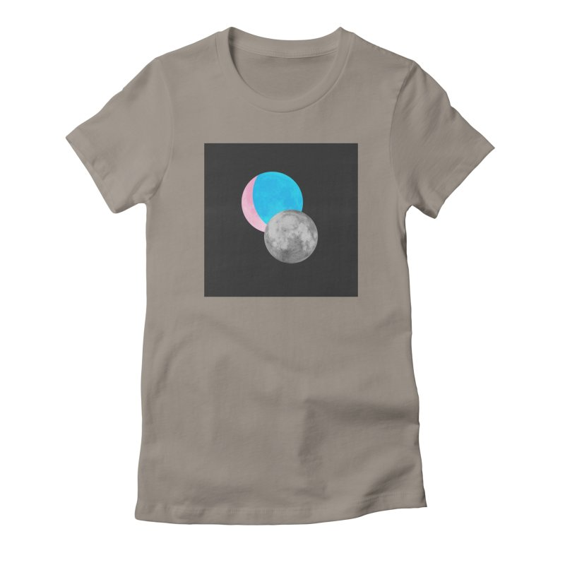 TMOONZ Women's Fitted T-Shirt by laterlouie's Artist Shop