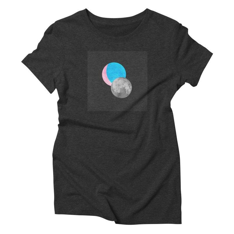 TMOONZ Women's Triblend T-Shirt by Later Louie's Artist Shop