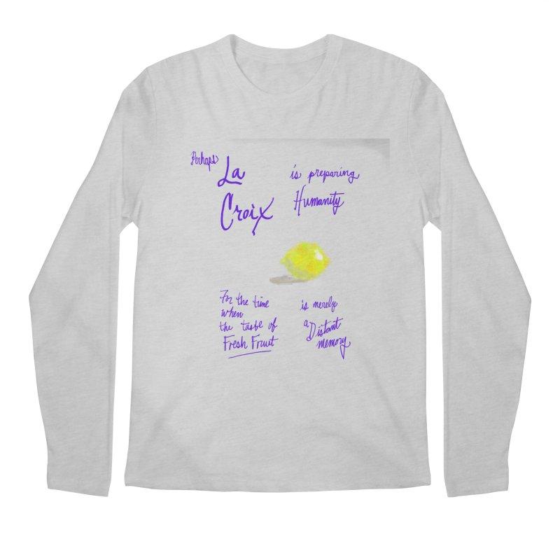 Perhaps Lemon Men's Longsleeve T-Shirt by latterhalves's Artist Shop