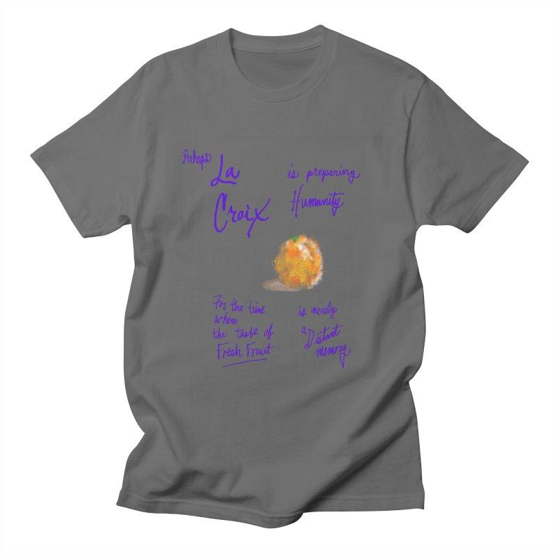 Perhaps Orange Men's T-Shirt by latterhalves's Artist Shop