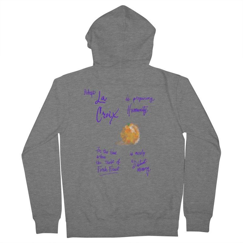 Perhaps Orange Men's Zip-Up Hoody by latterhalves's Artist Shop