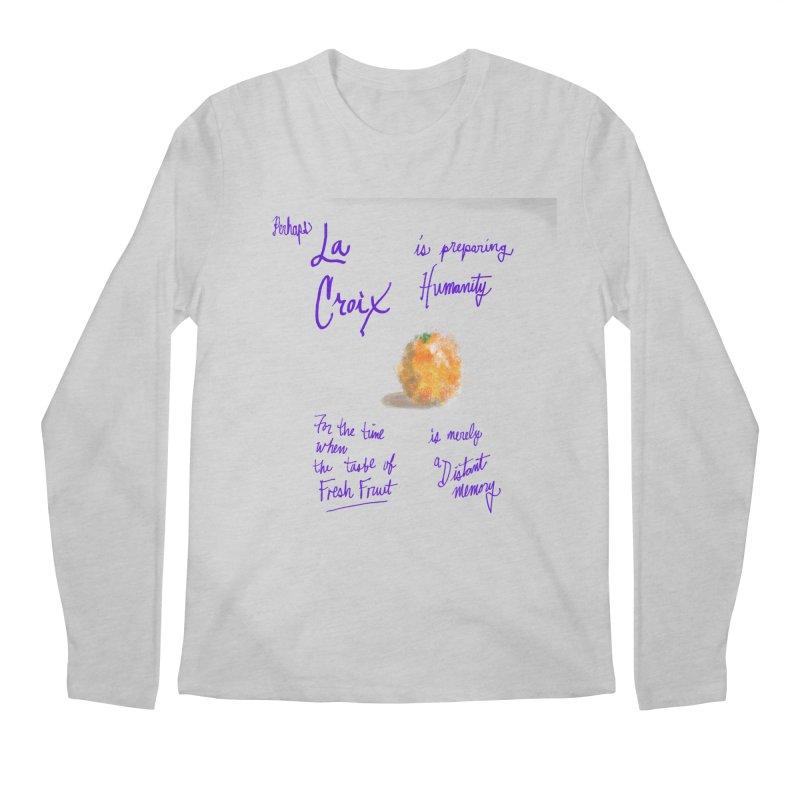 Perhaps Orange Men's Longsleeve T-Shirt by latterhalves's Artist Shop