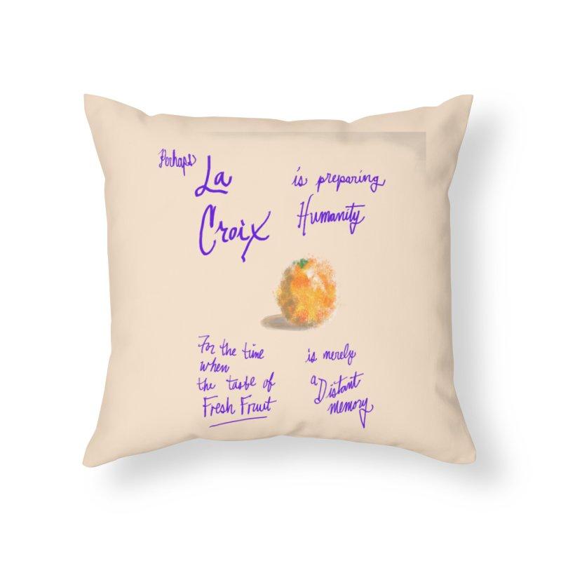 Perhaps Orange Home Throw Pillow by latterhalves's Artist Shop