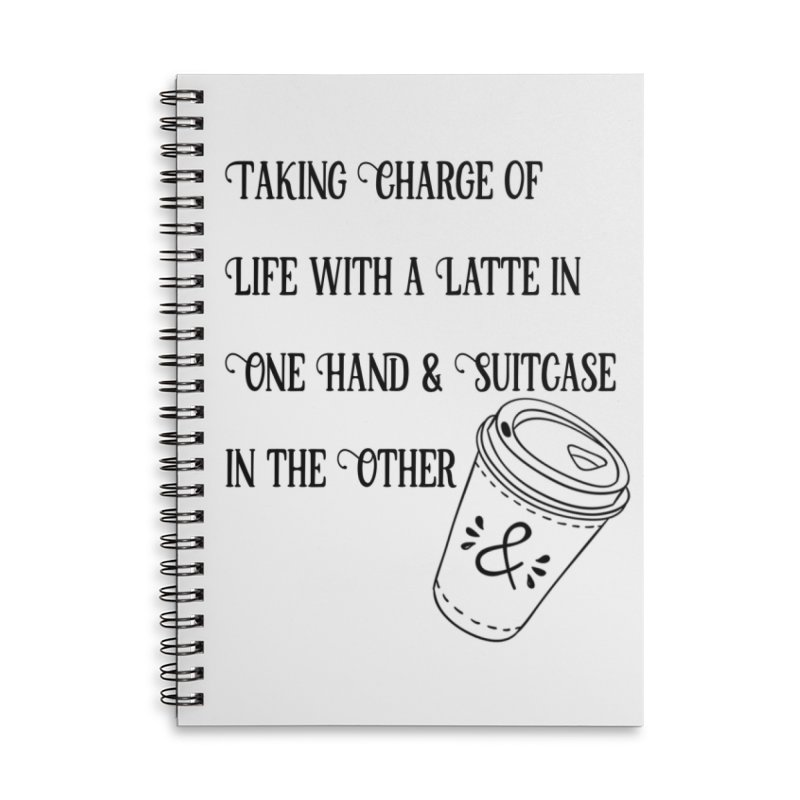 Taking Charge Notebooks Accessories Lined Spiral Notebook by The Official Lattes, Life & Luggage Shop
