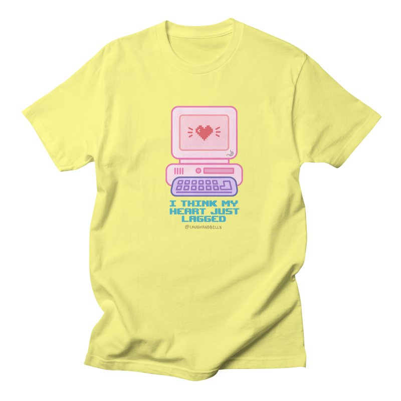 I Think My Heart Just Lagged in Men's Regular T-Shirt Lemon by Laugh And Belly's Merch