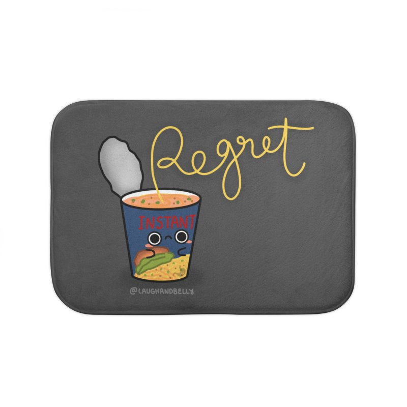 Instant Regret Home Bath Mat by Laugh And Belly's Merch