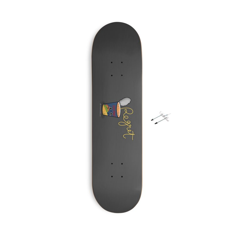 Instant Regret Accessories Skateboard by Laugh And Belly's Merch