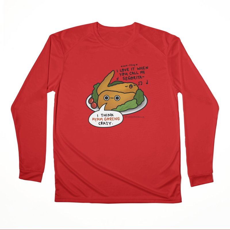 Ayam Goreng Crazy (By Singaporeans For Singaporeans) Men's Longsleeve T-Shirt by Laugh And Belly's Merch