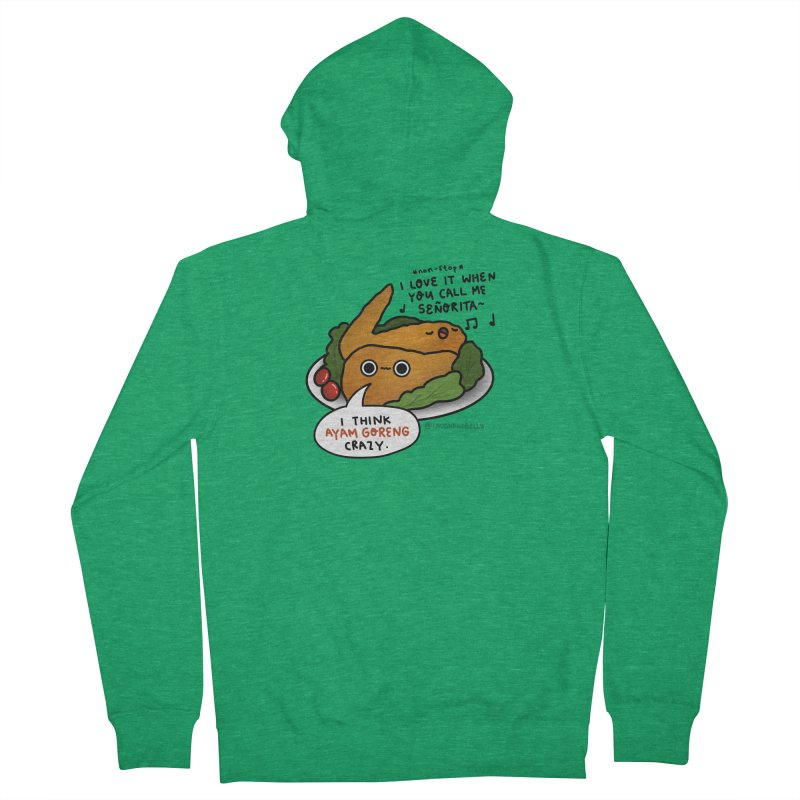 Ayam Goreng Crazy (By Singaporeans For Singaporeans) Men's Zip-Up Hoody by Laugh And Belly's Merch